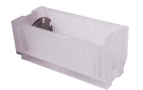 Sample holder box for sample carrier rings SECOM platform