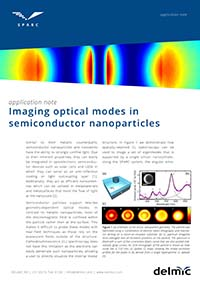 Imaging optical modes in semiconductor nanoparticles application note for cathodoluminescence imaging