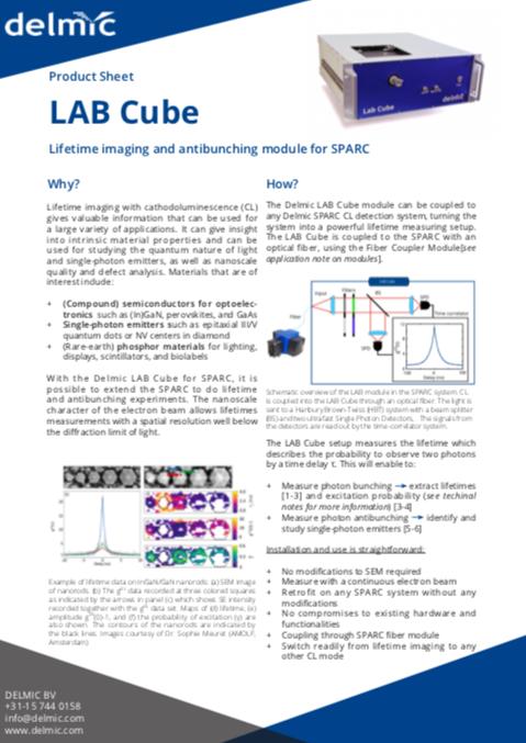 Lab Cube spec sheet thumbnail