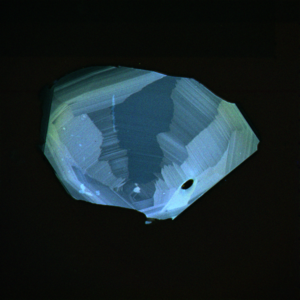 Cathodoluminescence intensity map of zircon