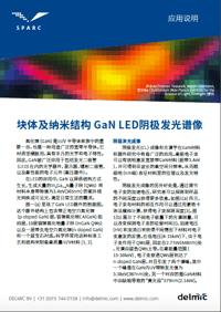 块体及纳米结构 GaN LED阴极发光谱像