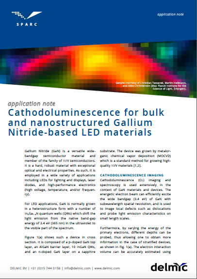 CL for bulk and nanostructured Gallium Nitride-based LED materials