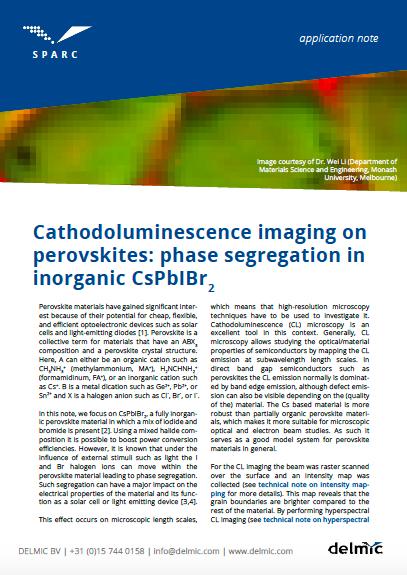 CL imaging on perovskites