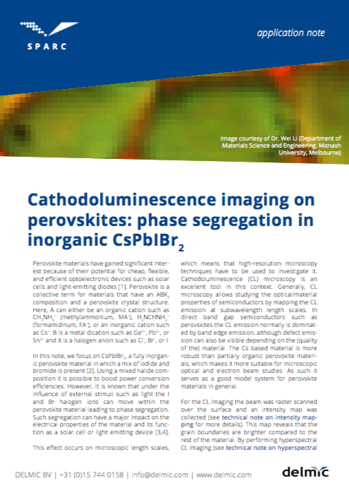 Cathodoluminescence imaging on perovskites: phase segregation in inorganic CsPbIBr2