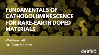 Webinar cathodoluminescence for rare-earth doped materials