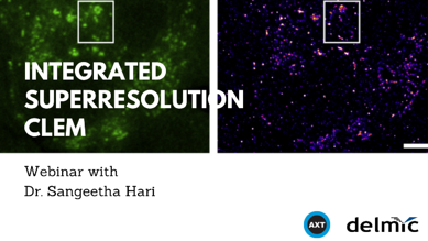Cover image of webinar Integrated super-resolution CLEM