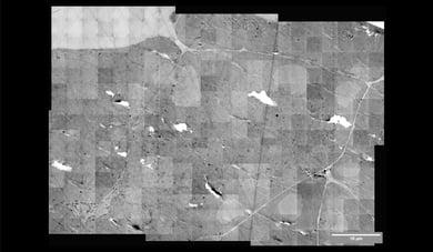 Fast electron microscopy stitching image