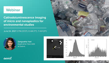Cathodoluminescence imaging of micro and nanoplastics for environmental studies