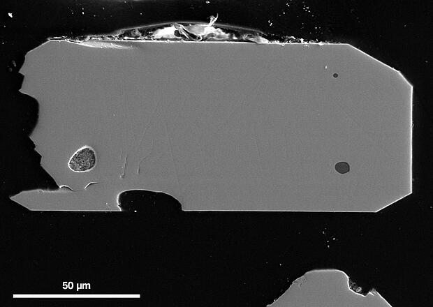 Panchromatic CL intensity image of zircon crystal