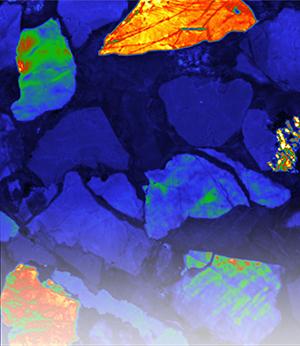 沉积岩的阴极发光图