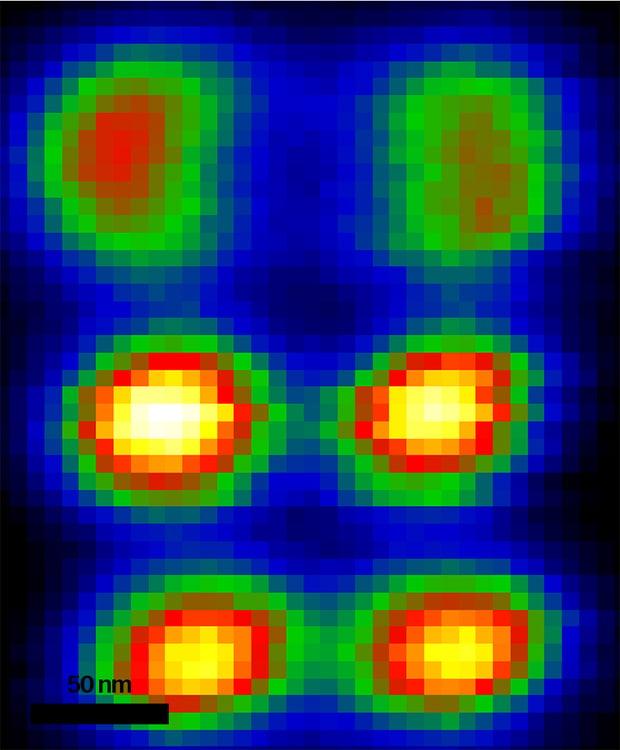 扫描电镜中获取的高光谱CL图