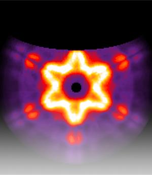 等离子纳米天线的彩色阴极发光图