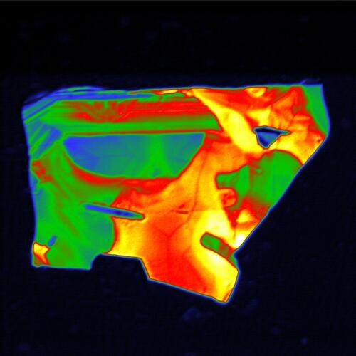 Close-up panchromatic PMT intensity image of a zircon grain. Samples courtesy of Prof. Jens Jahren, University of Oslo