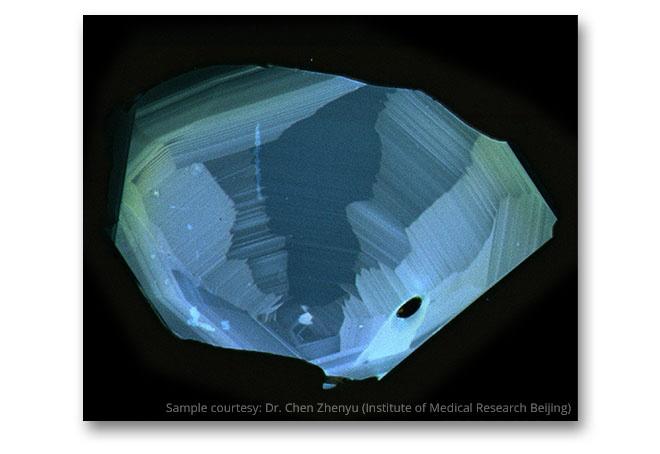 Zircon imaged with SEM cathodoluminescence