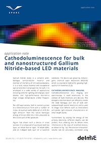 Cathodoluminescence for bulk and nanostructured Gallium Nitride-based LED materials