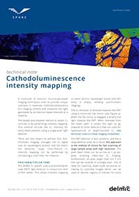 Cathodoluminescence intensity mapping
