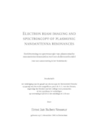 Electron beam imaging and spectroscopy of plasmonic nanoantenna resonances, E. J. R. Vesseur, Utrecht University (2011)