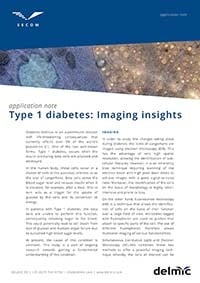 Thumbnail of application note on Type 1 diabetes: Imaging insights