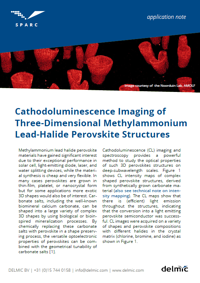 SPARC Application note Cathodoluminescence Imaging of Three-Dimensional Methylammonium Lead-Halide Perovskite Structures