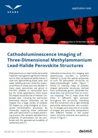 CL Imaging of Three-dimensional methylammonium lead-halide perovsikte structure