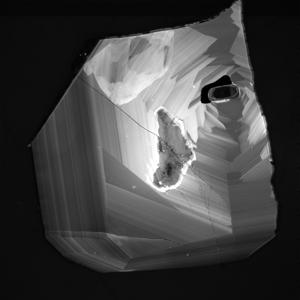 Cathodoluminescence intensity map of zircon