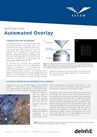 Automated overlay technical note for correlative light and electron microscopy